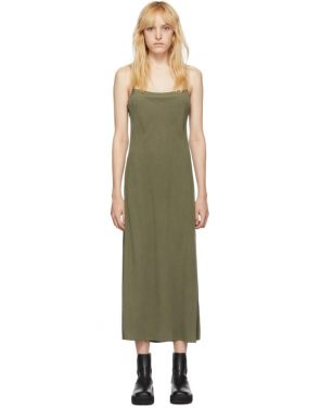 photo Khaki Silk Bias Slip Dress by Our Legacy - Image 1