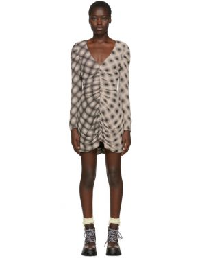 photo Beige and Black Ripple Dress by Eckhaus Latta - Image 1