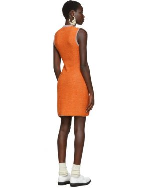 photo Orange Clavicle Dress by Eckhaus Latta - Image 3