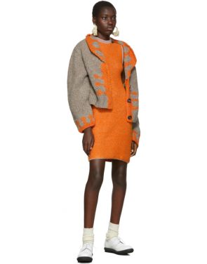 photo Orange Clavicle Dress by Eckhaus Latta - Image 5