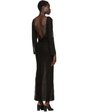 photo Black Plunge Dress by Eckhaus Latta - Image 3