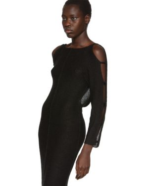 photo Black Plunge Dress by Eckhaus Latta - Image 4