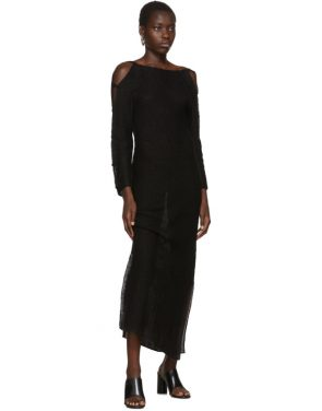 photo Black Plunge Dress by Eckhaus Latta - Image 5