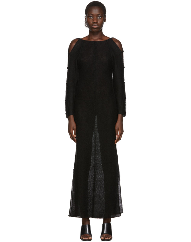 photo Black Plunge Dress by Eckhaus Latta - Image 1