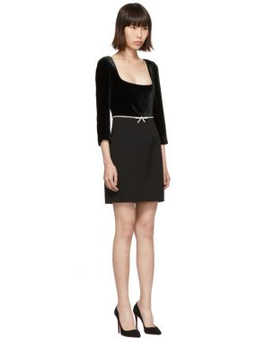 photo Black Velvet Dress by Miu Miu - Image 2