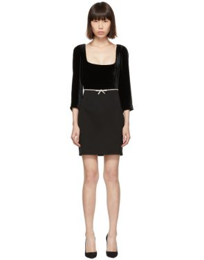 photo Black Velvet Dress by Miu Miu - Image 1