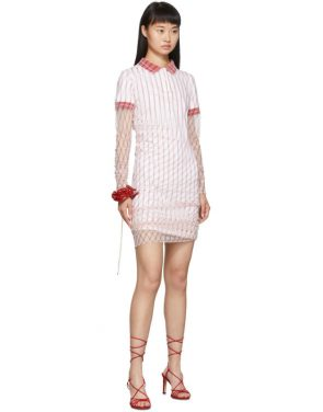 photo Red Printed Condom Polo Dress by Y/Project - Image 5