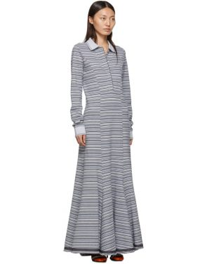 photo Grey Stripe Polo Dress by Y/Project - Image 2