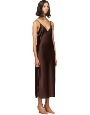 photo Burgundy Silk Clea Dress by Joseph - Image 2