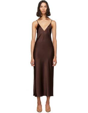 photo Burgundy Silk Clea Dress by Joseph - Image 1