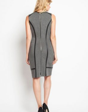 photo Bowery Dress - Charcoal, color Charcoal - Image 3