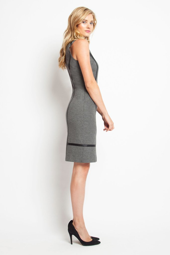 photo Bowery Dress - Charcoal, color Charcoal - Image 1