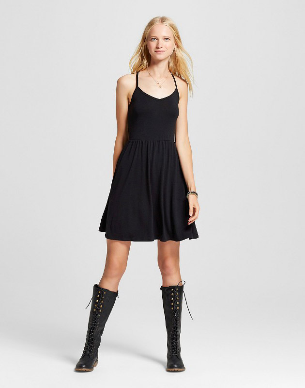 photo Knit Swing Skater Dress by Mossimo Supply Co., color Black - Image 1