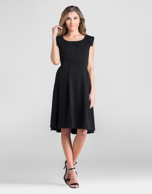 photo Maternity Scoop Neck Dress by Expected by Lilac, color Black - Image 1