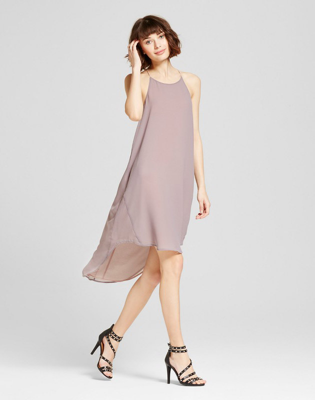 photo Hi Low Halter Dress by S&P by Standards and Practices, color Grey - Image 1