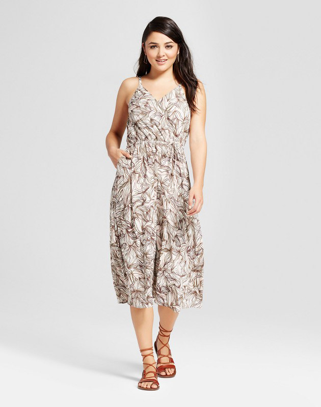 photo Wrap Cami Dress by Mossimo, color Pink/Olive - Image 1