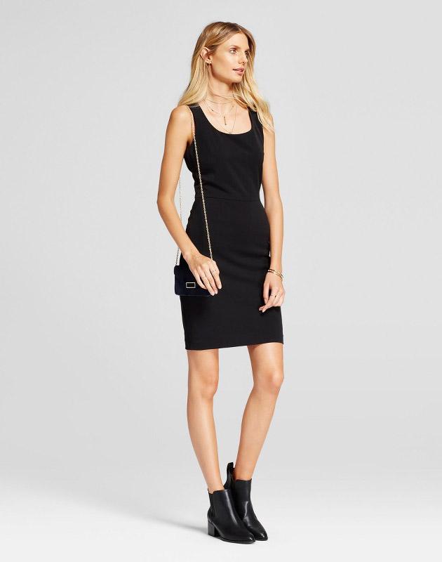 photo Bi-Stretch Twill Sheath Dress by A New Day, color Black - Image 1