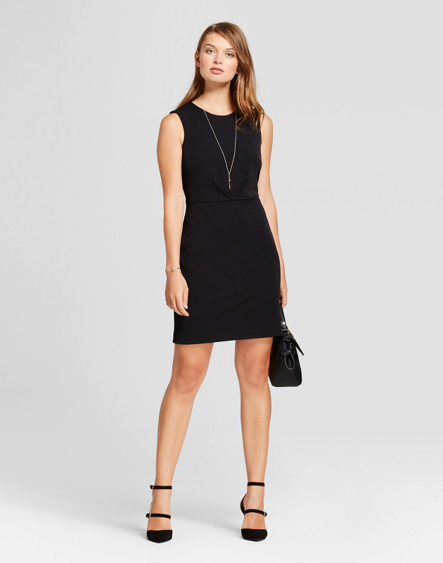 photo Bi-Stretch Twill Dress by A New Day, color Black - Image 1