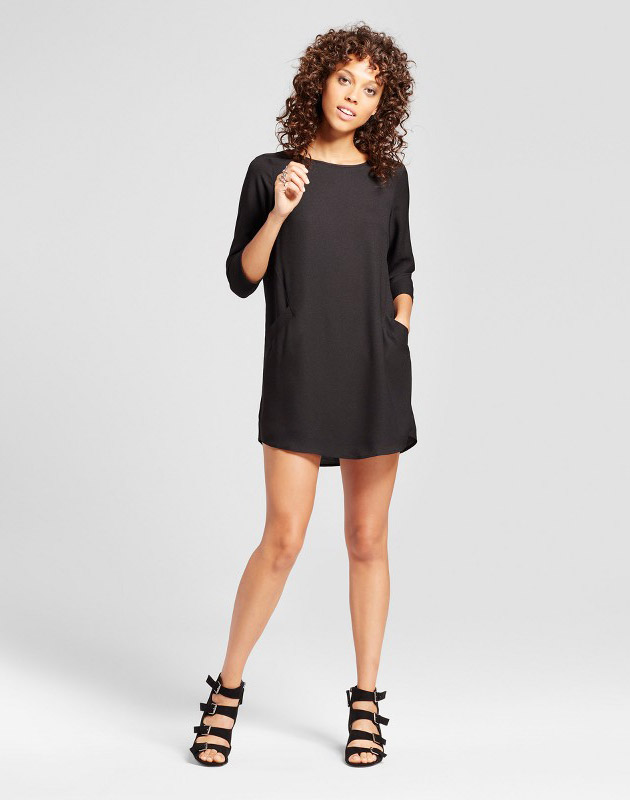 photo Front Pocket Shift Dress by Eclair, color Black - Image 1