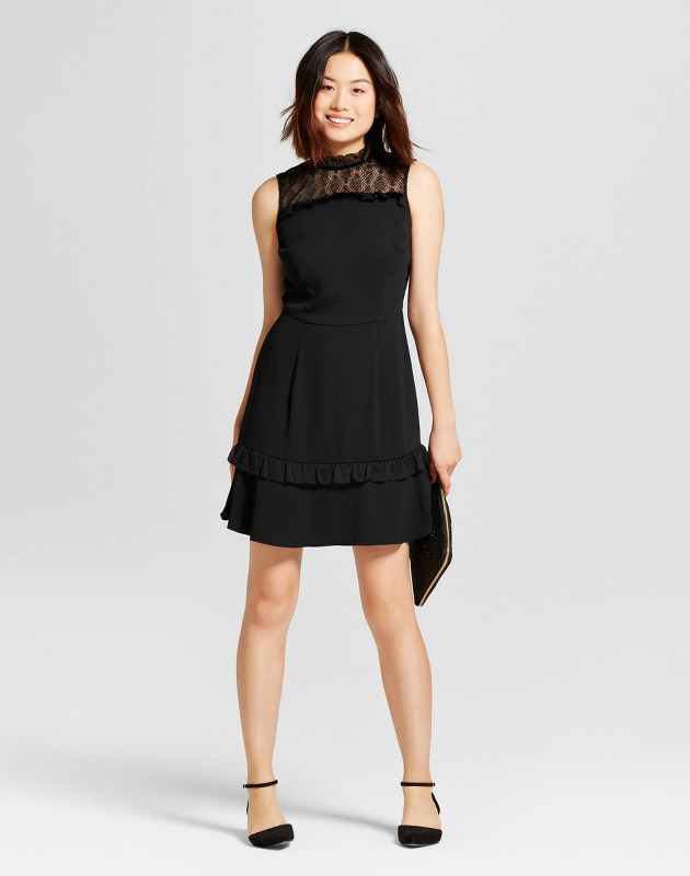 photo Crepe Ruffle Dress by A New Day, color Black - Image 1