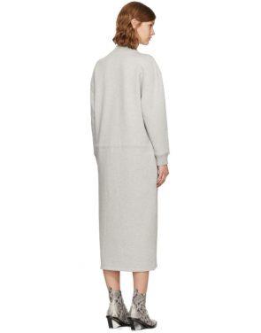 photo Grey Mock Neck Sweatshirt Dress by Opening Ceremony - Image 3