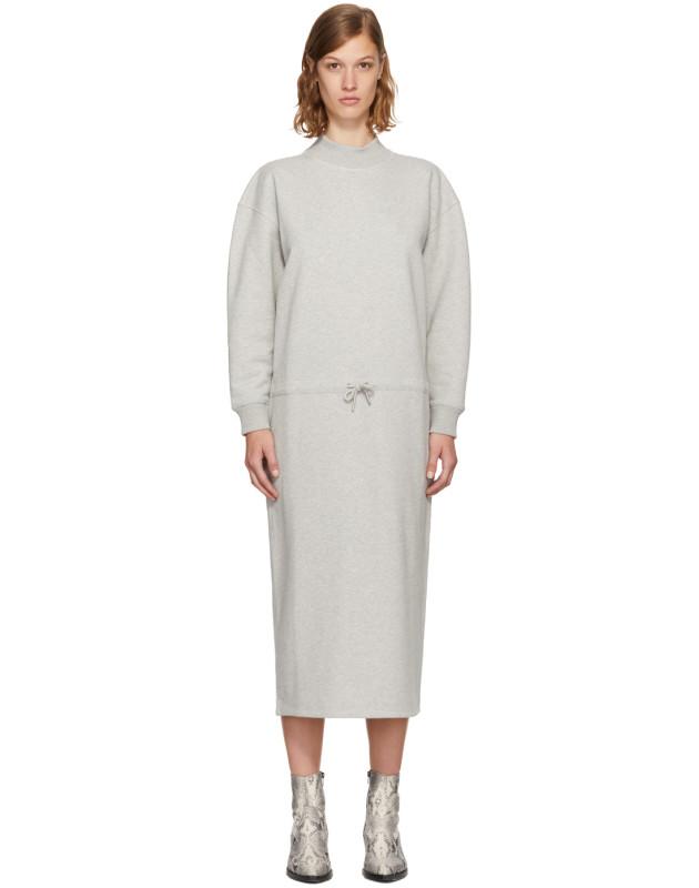 photo Grey Mock Neck Sweatshirt Dress by Opening Ceremony - Image 1