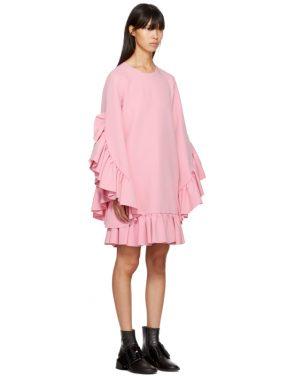photo Pink Long Sleeve Ruffle Dress by MSGM - Image 2