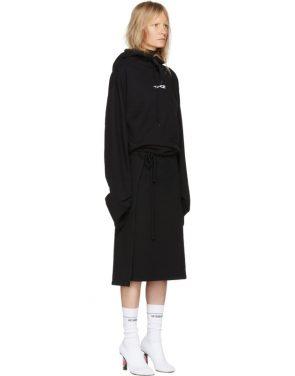 photo Black Hoodie Wrap Dress by Vetements - Image 2