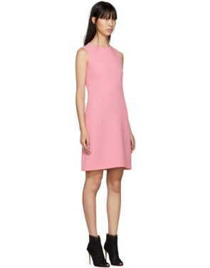 photo Pink A-Line Buttons Dress by Dolce and Gabbana - Image 2