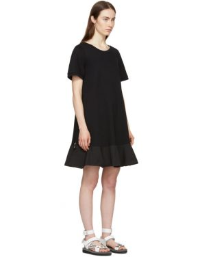 photo Black Short T-Shirt Dress by Moncler - Image 2