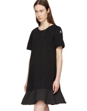 photo Black Short T-Shirt Dress by Moncler - Image 5