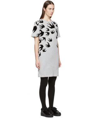 photo Grey Swallow Signature T-Shirt Dress by McQ Alexander McQueen - Image 2