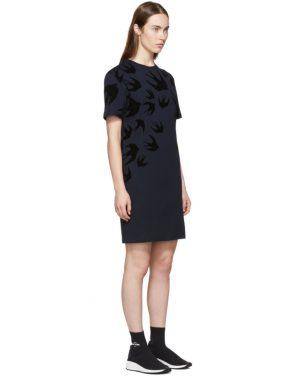 photo Navy Swallow Signature T-Shirt Dress by McQ Alexander McQueen - Image 2