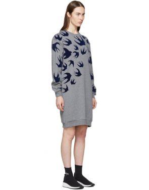 photo Grey Swallow Signature Sweatshirt Dress by McQ Alexander McQueen - Image 2