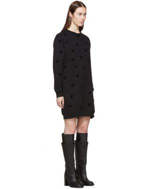 photo Black Mini Swallow Sweatshirt Dress by McQ Alexander McQueen - Image 2