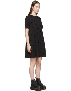 photo Black Mini Swallow Babydoll Dress by McQ Alexander McQueen - Image 2
