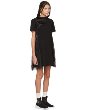 photo Black Cut-Up T-Shirt Dress by McQ Alexander McQueen - Image 2