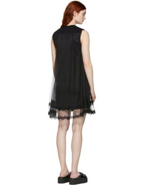 photo Black Hybrid Goth Mini Dress by McQ Alexander McQueen - Image 2