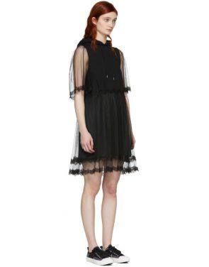 photo Black Hybrid Hoodie Dress by McQ Alexander McQueen - Image 2
