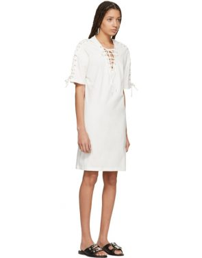 photo Ivory Laced T-Shirt Dress by McQ Alexander McQueen - Image 2