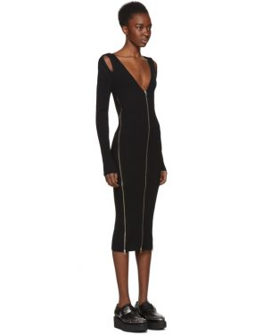 photo Black Bodycon Zip Dress by McQ Alexander McQueen - Image 2