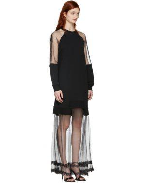 photo Black Hybrid Long Dress by McQ Alexander McQueen - Image 2