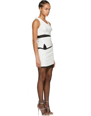 photo Off-White and Black Deconstructed Tank Dress by Alexander Wang - Image 2