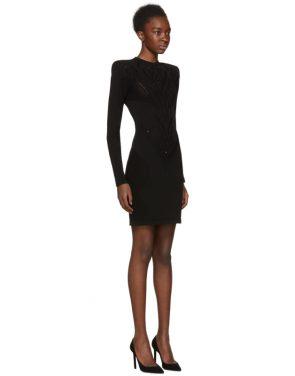 photo Black Lace Dress by Balmain - Image 2