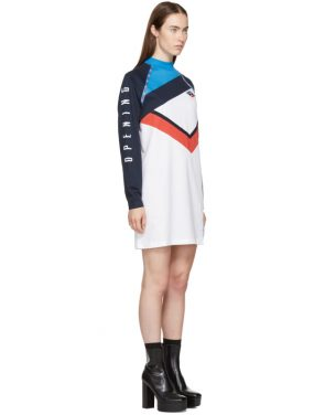 photo White and Navy Limited Edition Alpha T-Shirt Dress by Opening Ceremony - Image 2