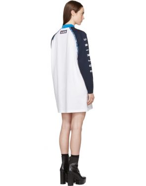 photo White and Navy Limited Edition Alpha T-Shirt Dress by Opening Ceremony - Image 3
