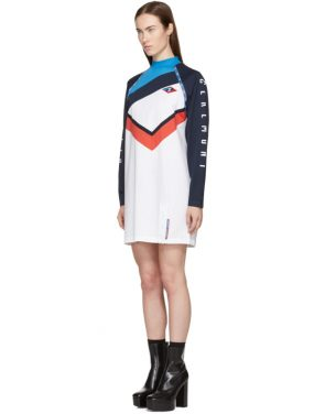 photo White and Navy Limited Edition Alpha T-Shirt Dress by Opening Ceremony - Image 4