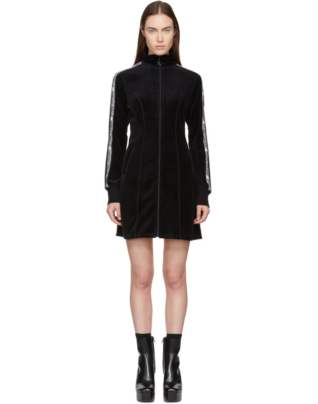 photo Black Limited Edition Velour Track Dress by Opening Ceremony - Image 1