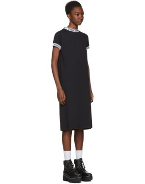 photo Black Logo Banded T-Shirt Dress by Opening Ceremony - Image 2