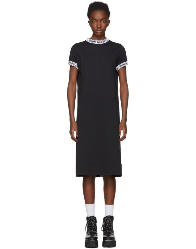 photo Black Logo Banded T-Shirt Dress by Opening Ceremony - Image 1